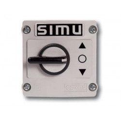 Inverseur à bouton Simu mixte