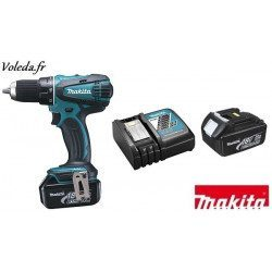 Perceuse visseuse Makita 18V Li-Ion 3Ah - Makita DDF456RFE
