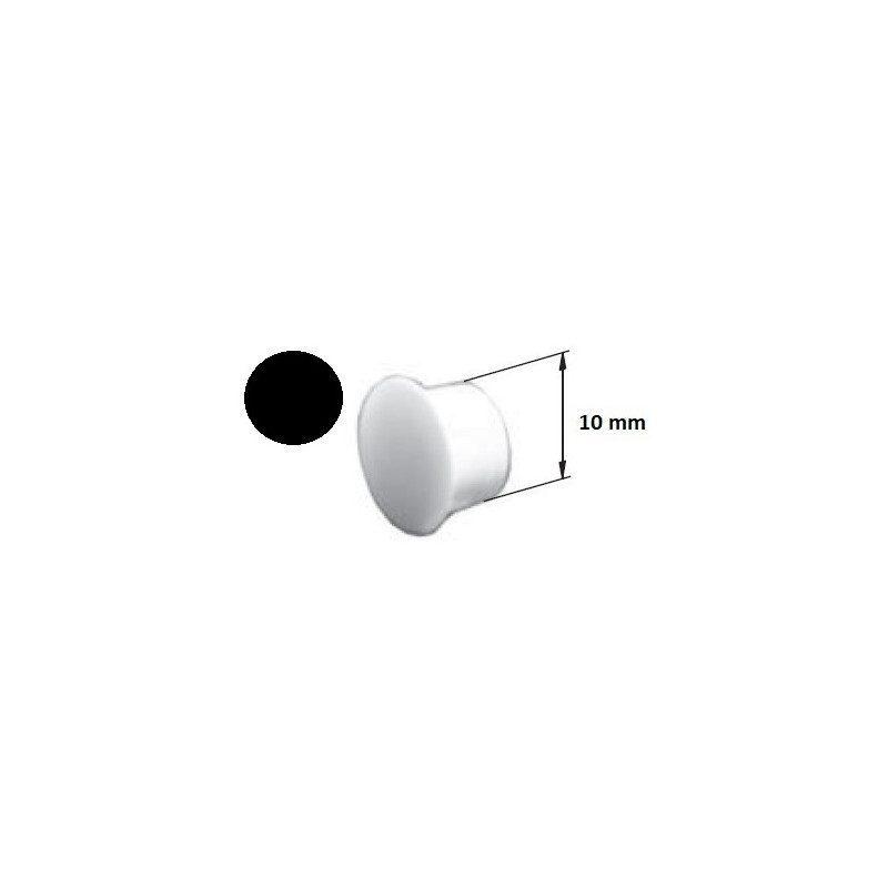 Bouchon PVC coulisse volet roulant noir - 10 mm