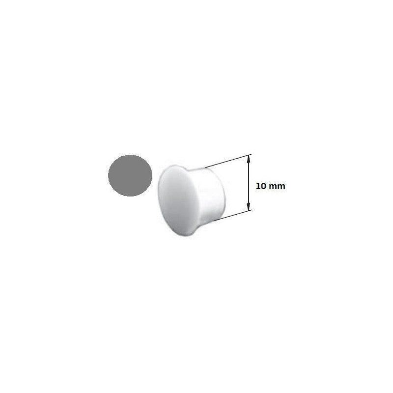 Bouchon PVC cache vis coulisse volet roulant gris - 10 mm