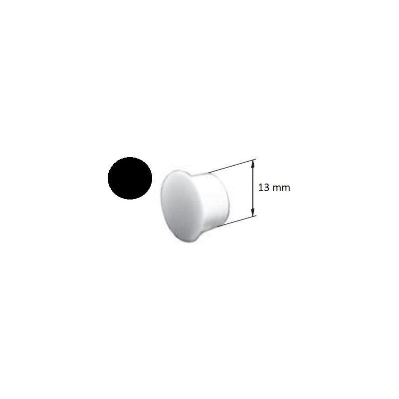 Bouchon PVC volet roulant cache vis noir - 13 mm