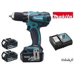 Perceuse visseuse Makita 18V Li-Ion 3 Ah - Makita DDF456RFE3