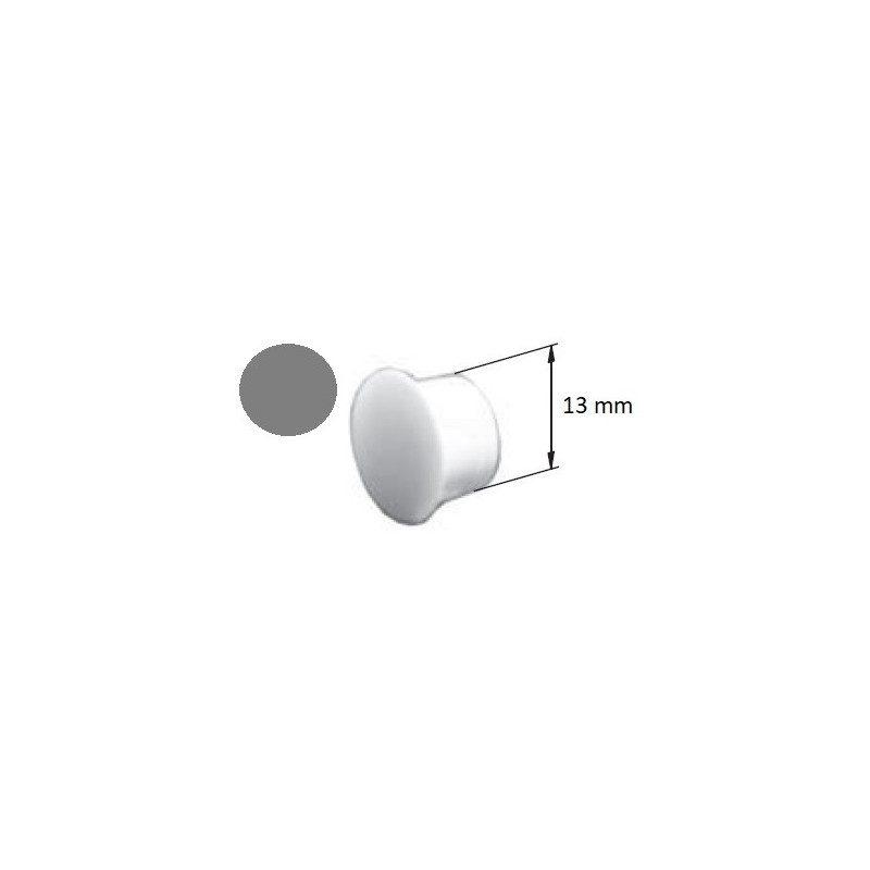 Bouchon PVC pour coulisse volet roulant gris - 13 mm