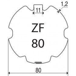 Bagues moteur volet roulant Simu-Somfy LT60 - T6 - ZF 80