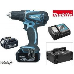 Perceuse visseuse Makita 18V Li-Ion 4 Ah - Makita DDF456SP1F