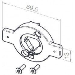 Plaque adaptation support moteur Elero VariEco S volet roulant