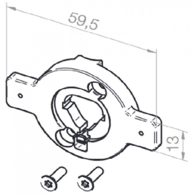 Plaque support moteur Elero VariEco S