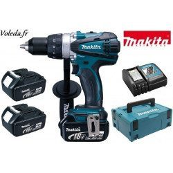 Perceuse visseuse Makita 18V Li-Ion 4 Ah - Makita DDF458RM3J