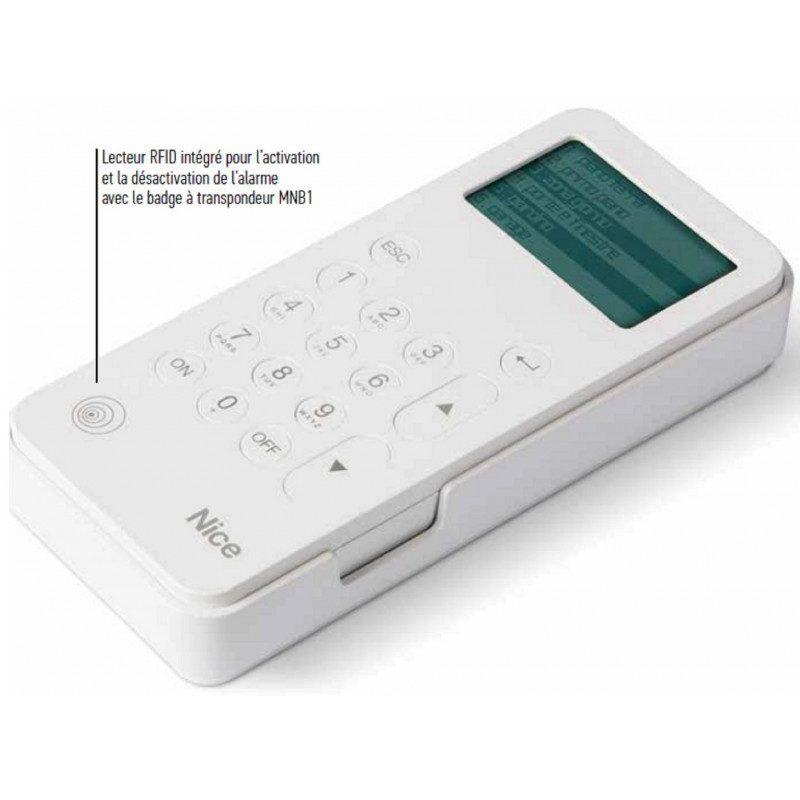 Clavier alarme Nice sans fil bidirectionnel MNKP
