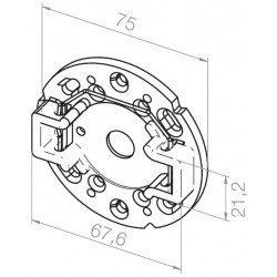 Support de plaque intermédiaire Elero pour moteur Revoline S