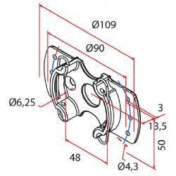 Support moteur Cherubini universel 45 mm volet roulant