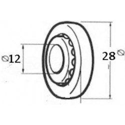 Roulement a bille volet roulant nylon diametre 28
