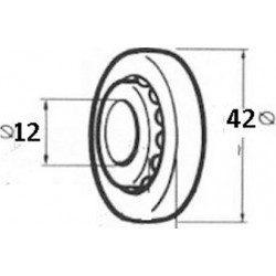 Roulement a bille volet roulant nylon diametre 42