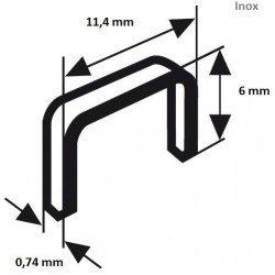 Agrafe Type 53 inox Bosch 6x11.4 mm - 1000 agrafes