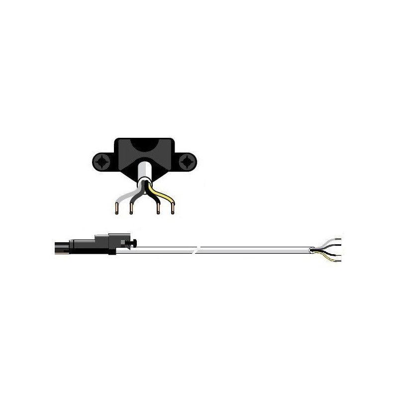 Cable moteur Somfy filaire 50 60 VVF Blanc 1m