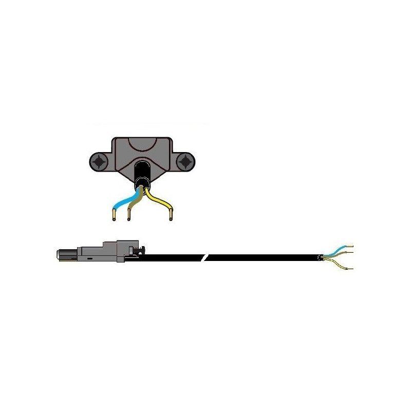 Cable moteur Somfy radio 50 60 RRF Noir 2.5 m