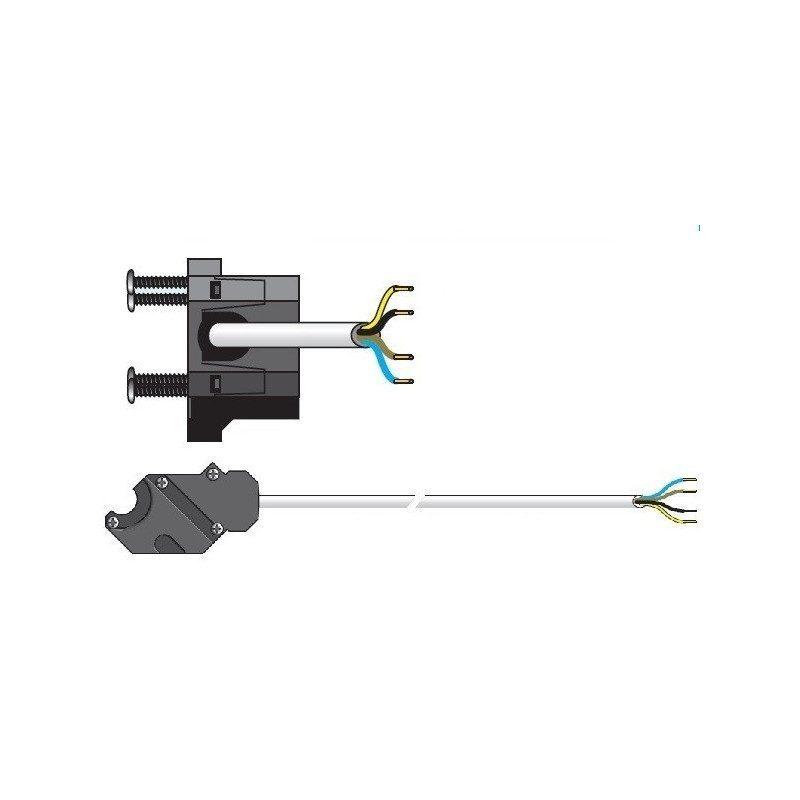 Cable moteur Somfy filaire csi 50 60 VVF Blanc 10 m