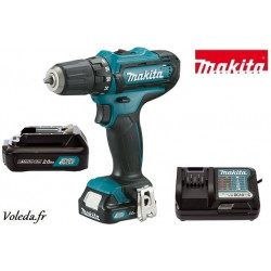 Perceuse visseuse Makita 10,8V Li-Ion 2 Ah - Makita DF331DWAE