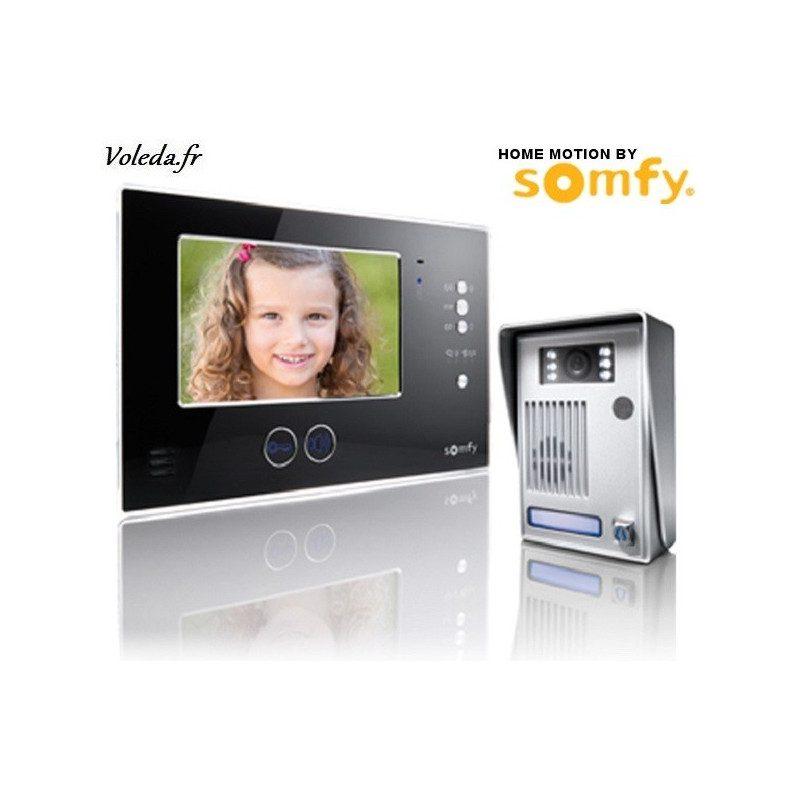Visiophone Somfy V200 sans fil - Noir