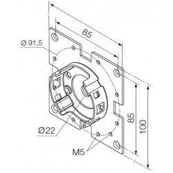 Support moteur Nice Era M Ø 45 mm - Compact avec bride