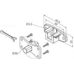 Support moteur Nice Era M Ø 45 mm - Etrier et pivot carre