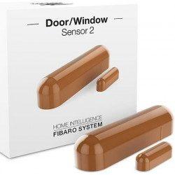 Fibaro door window sensor 2 - Detecteur d'ouverture Z-wave - Marron clair
