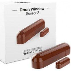 Fibaro door window sensor 2 - Detecteur d'ouverture Z-wave Plus - Marron