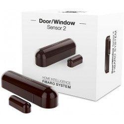 Fibaro door window sensor 2 - Detecteur d'ouverture Z-wave Plus - Marron fonce
