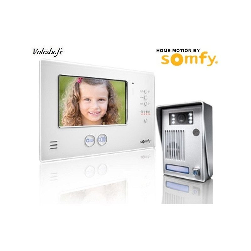 Visiophone Somfy V200 sans fil - Blanc