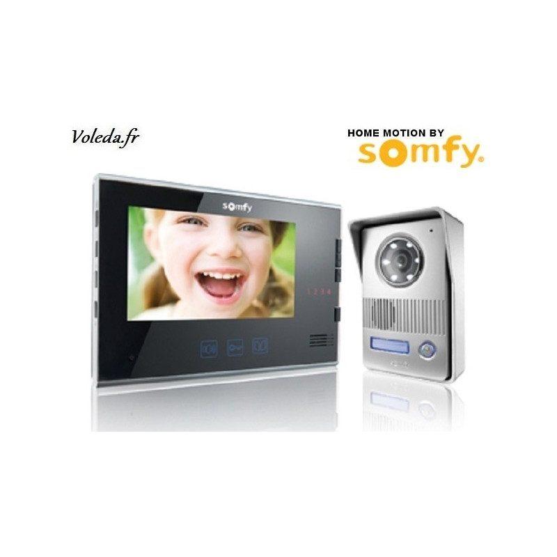visiophone somfy v400 noir portier video. Black Bedroom Furniture Sets. Home Design Ideas