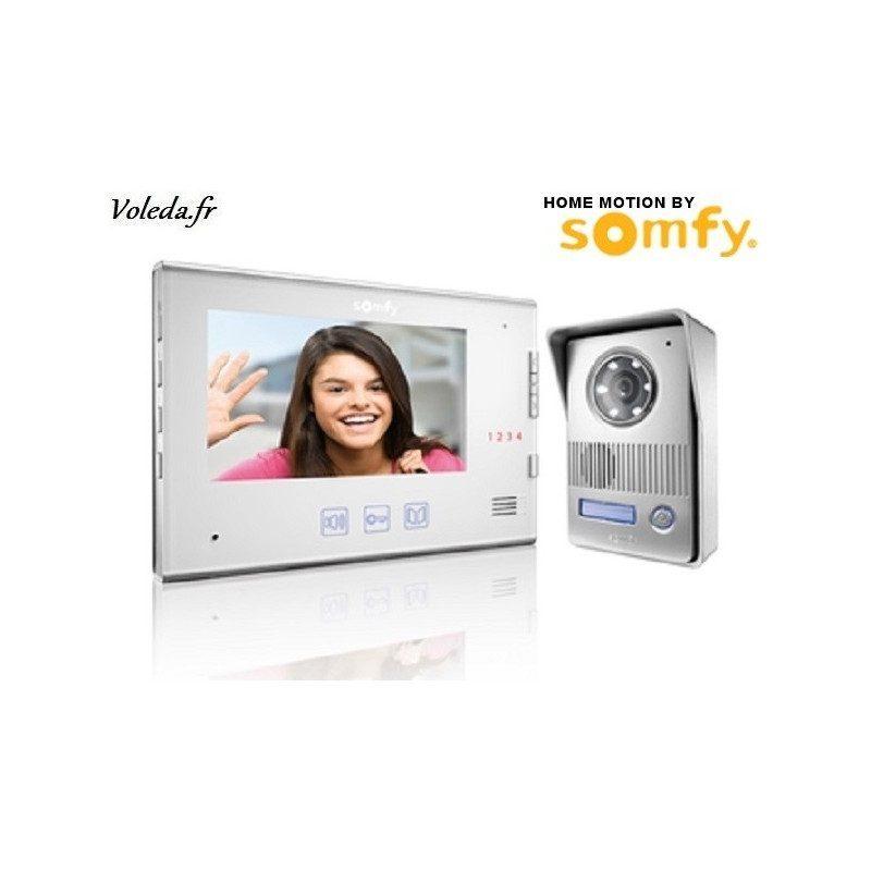 Visiophone Somfy V400 sans fil - Blanc