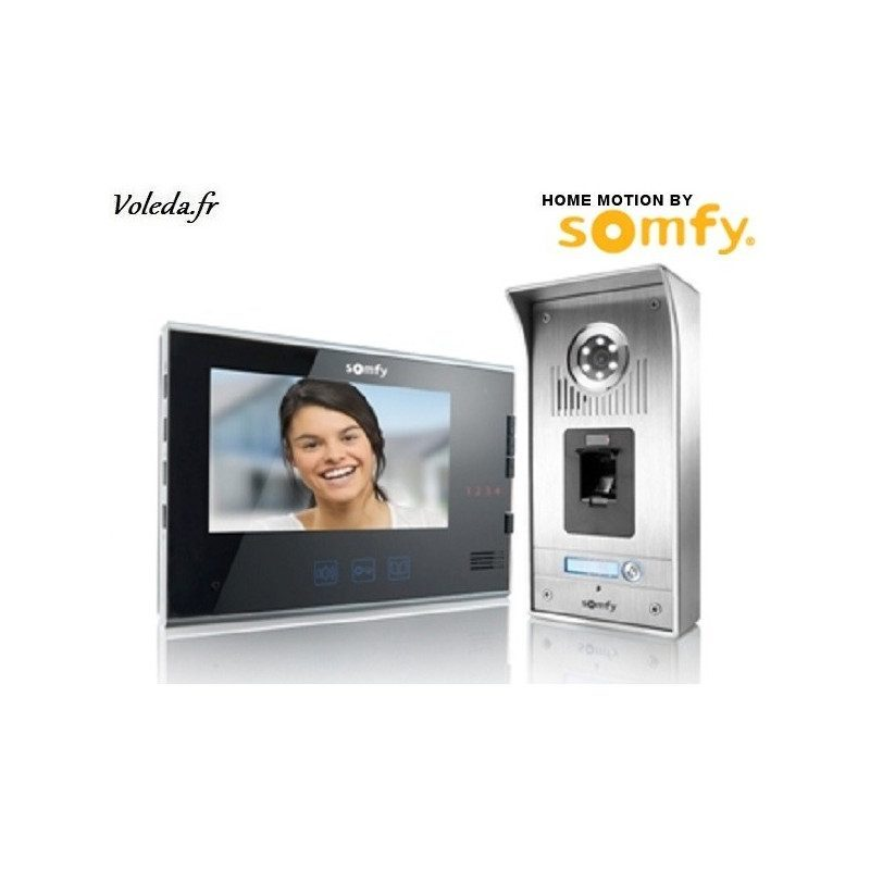 Visiophone Somfy V600 sans fil - Noir