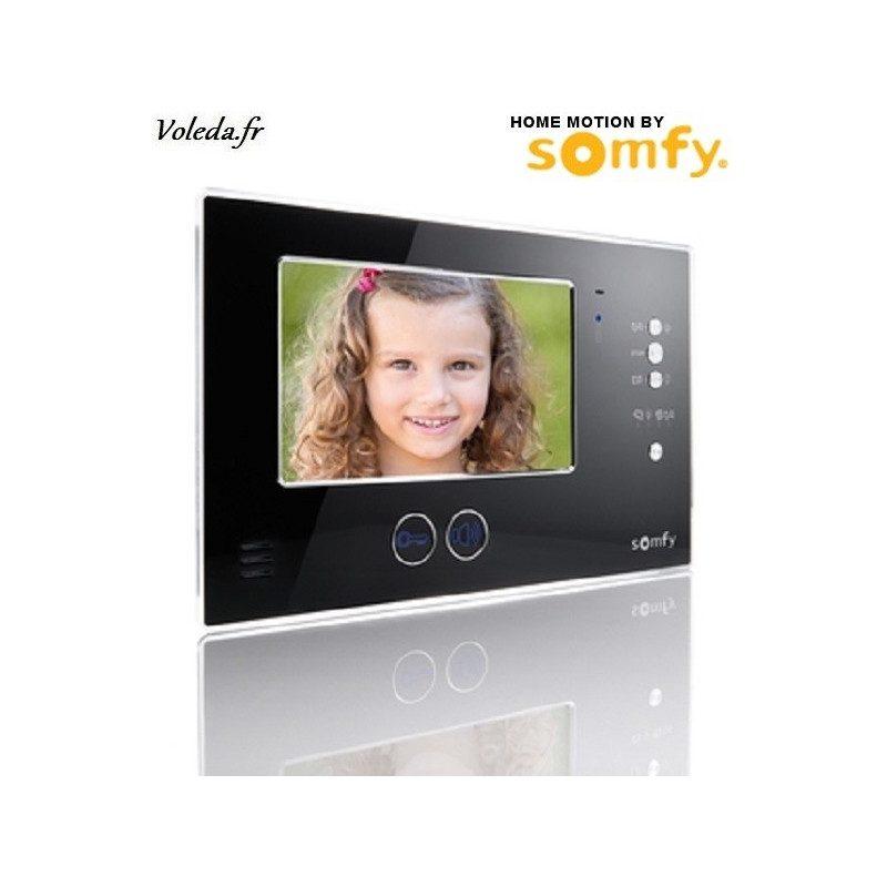 Moniteur visiophone Somfy V200 sans fil - Noir