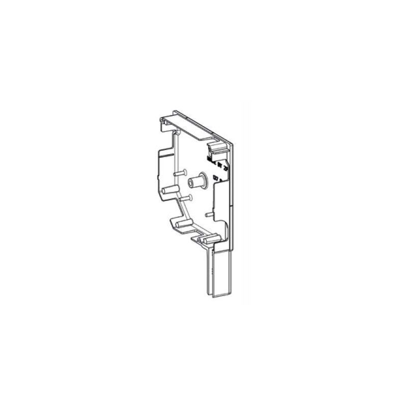 ZF Flasque volet roulant aluminium 45° pan coupe 150 mm blanc - Droite