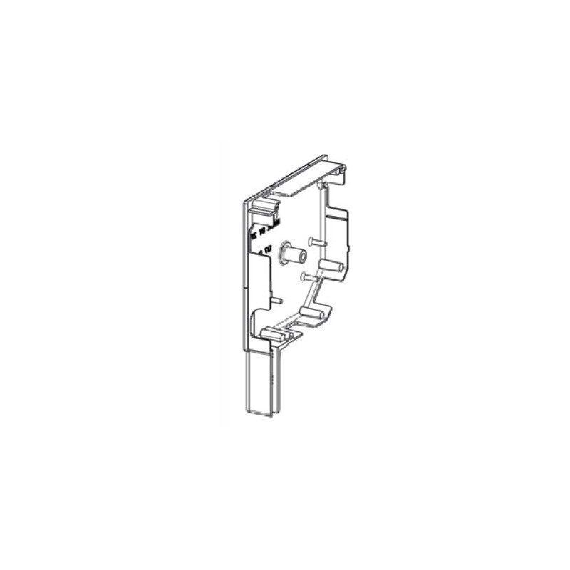 ZF Flasque volet roulant aluminium 45° pan coupe 150 mm - blanc - Gauche