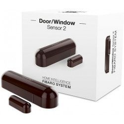 Fibaro door window sensor 2 - Detecteur d'ouverture Homekit - Marron fonce