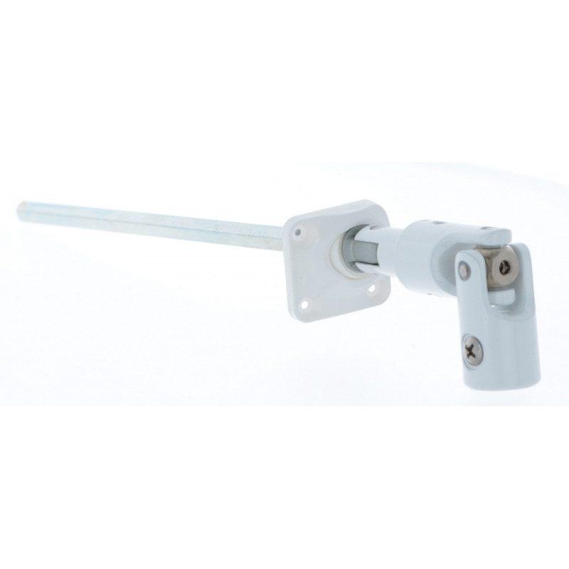 Sortie de caisson volet roulant 30° 170 mm 30x30 pliable blanche - Hexa 7