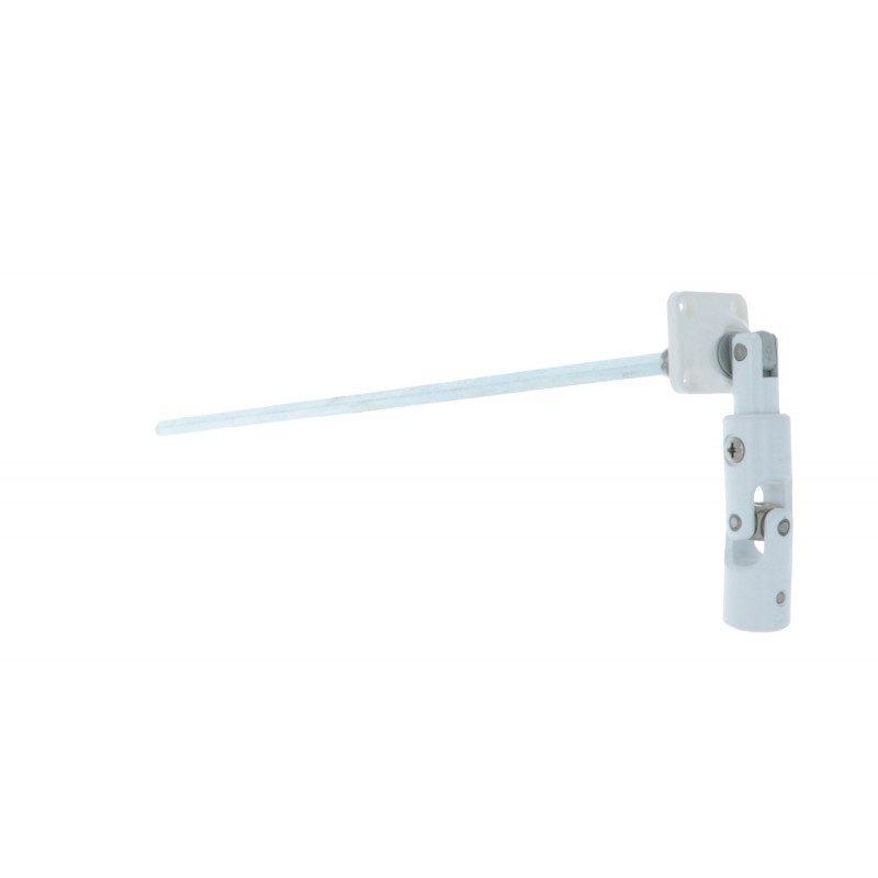 Sortie de caisson volet roulant 30° 320 mm 30x30 pliable blanche - Hexa 7