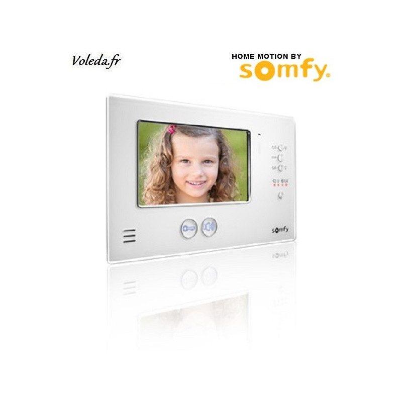 Moniteur visiophone Somfy V200 sans fil - Blanc