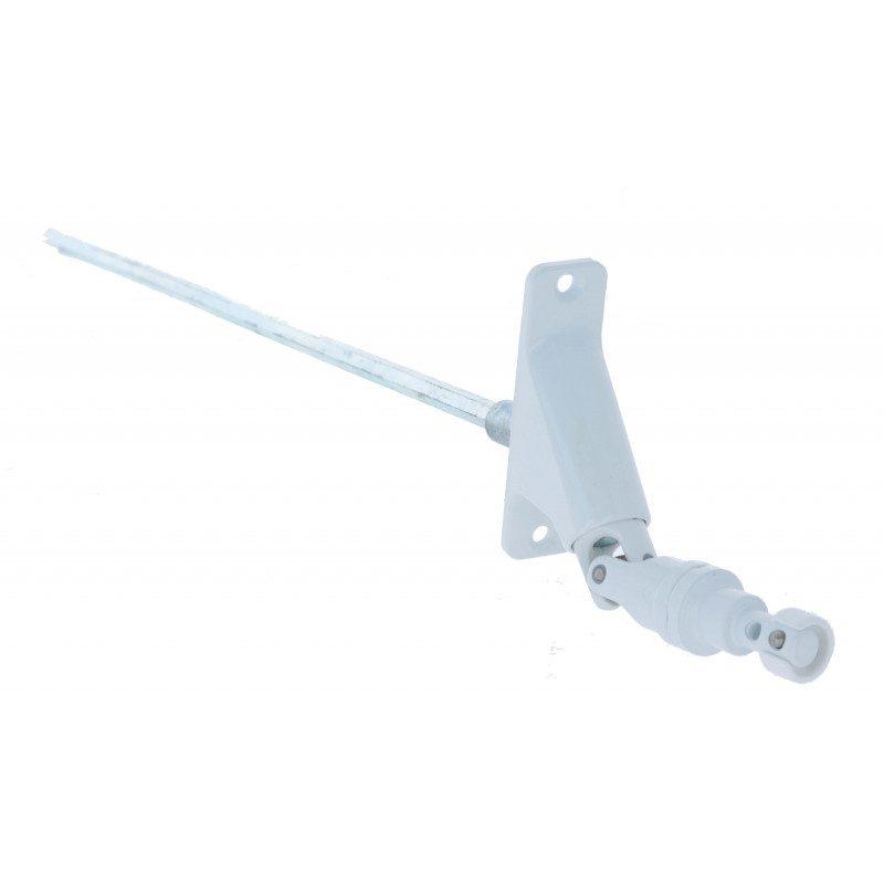 Sortie de caisson volet roulant 90° Blanche - Hexa 7 - 85x23mm - 380mm- aimanté