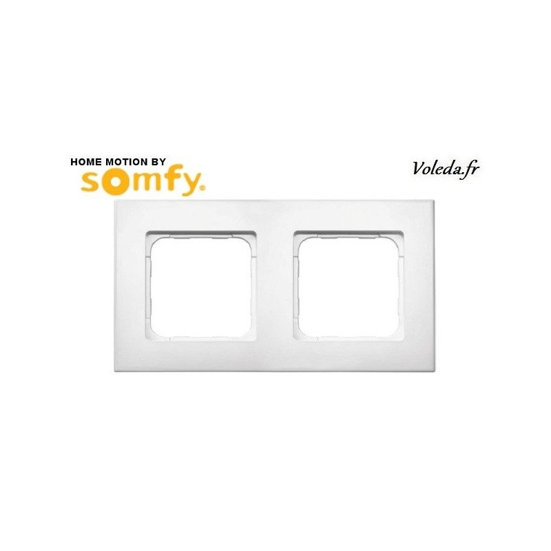 Double cadre Smoove Somfy 9015238 - Blanc laque