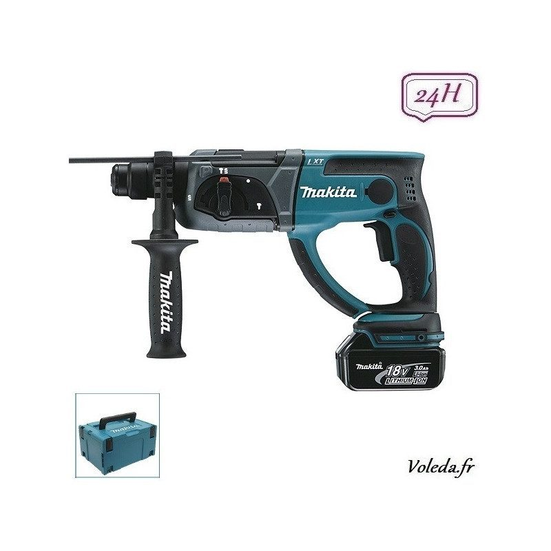 Perforateur burineur Makita SDS-Plus 18V Li-Ion 3Ah - Makita DHR202RFJ