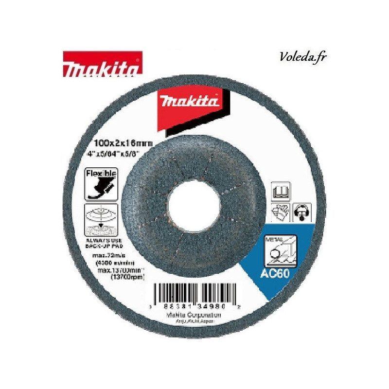 Disque flexible Makita B-18568 125 mm à ébarber