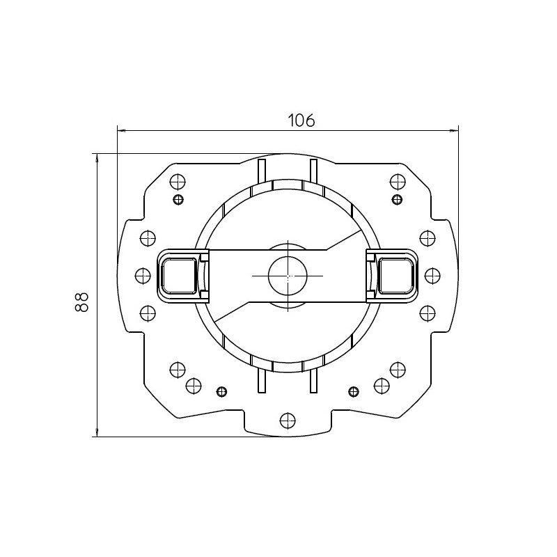 Support moteur Came Ø 45 mm rapide Mondrian 5 pour flanc ZF