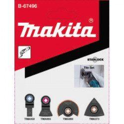 Jeu de 4 lames Makita B-67496 - Carrelage