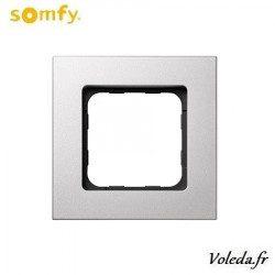 Cadre Smoove Somfy 9015024 - Acier laque