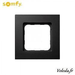 Cadre Smoove Somfy 9015023 - Noir mat