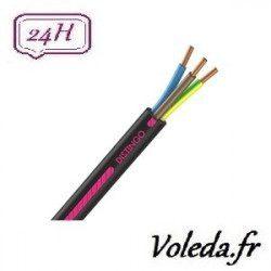 Cable R2V 3G1.5 100 M - Cable electrique Nexans - 1,5 mm²