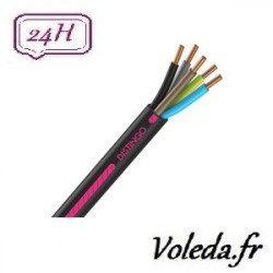 Cable R2V 5G1.5 100 M - Cable electrique Nexans - 1,5 mm²