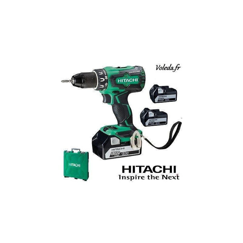 Perceuse visseuse Hitachi DS18DBSL5AX3 - 18V 5 Ah Li-ion
